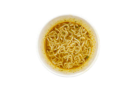 instant noodles cup on white background 版權商用圖片