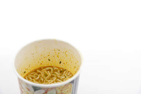 instant noodles cup on white background Banque d'images