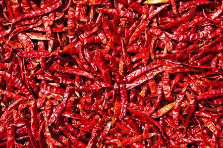 pimientos: Chili rojo secado al sol, Tailandia