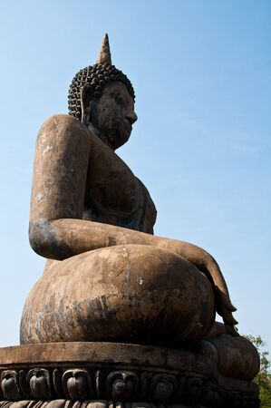 Buddha images in Sukhothai Historical Park, former capital city of Thailand