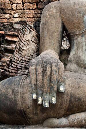 Hand of buddha in sukhothai historical park,Thailand