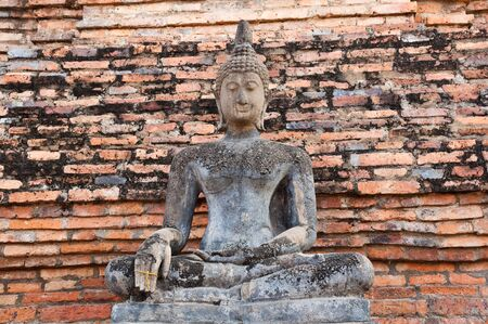 buddha images in Sukhothai Historical Park, former capital city of Thailand  Stock Photo