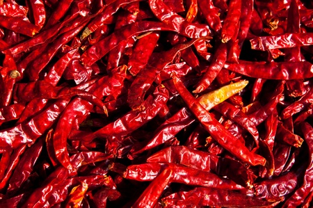 Red chili in the sun ,Thailand