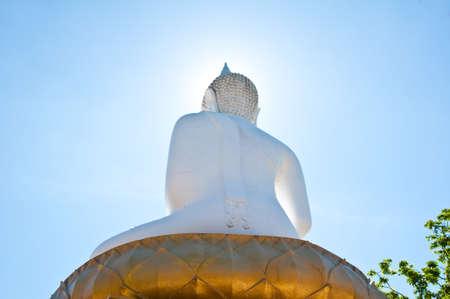 back Buddha image  Stock Photo