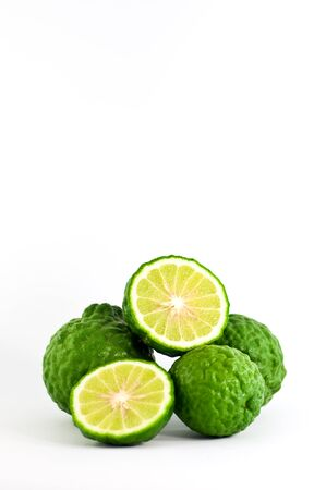 citrus on the white background