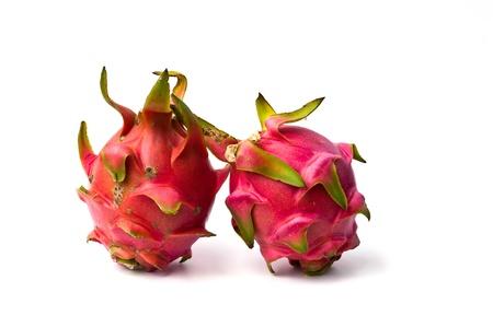 fresh dragon fruit isolated on white background.  Stock Photo