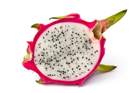 fresh dragon fruit isolated on white background.  Stock Photo