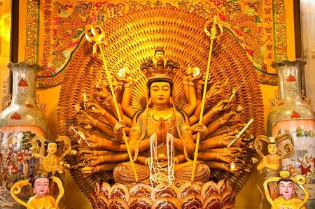 buddha image in Wat chainese,Phitsanulok