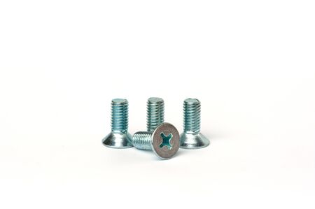 small bolts isolate on white background