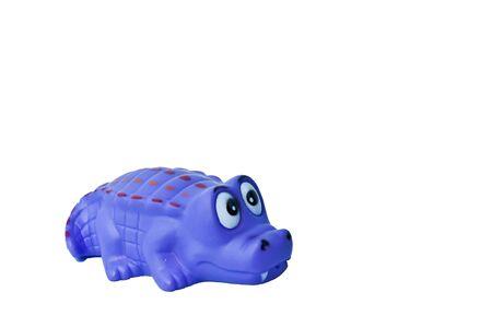 crocodile toy isolate on white background Stock Photo