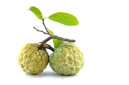custard-apple on the white background Stock Photo
