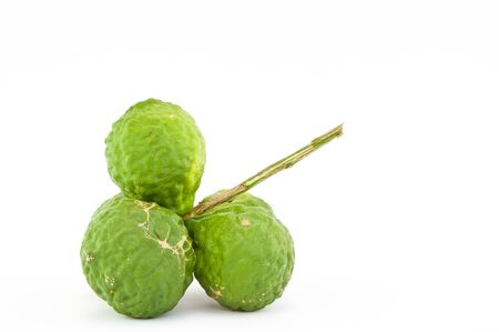 bergamot on the white background