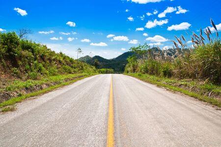 asphalt road and sky