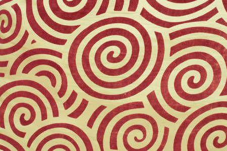 abstract spiral velvet on cloth