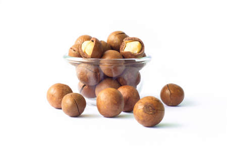 macadamia in small glass cup Stock Photo - 10319906