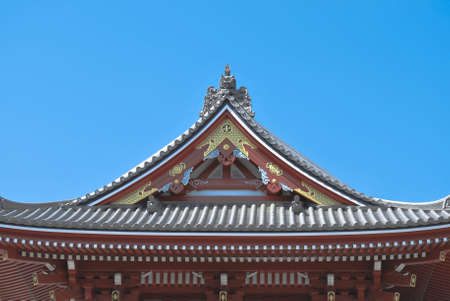 top roof of japanese temple
