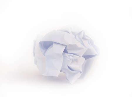 paper ball on the white floor Stock Photo