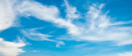 soft cloud on the blue sky Stock Photo