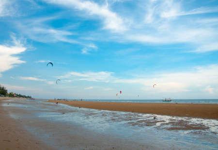 kite surf on the sea side of pranburi