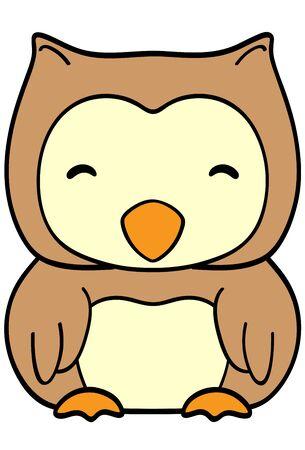 Happy owl on white background vector illustration Illustration