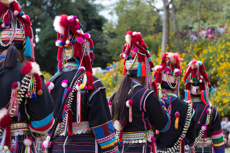 tribes: Thai hill tribes Stock Photo