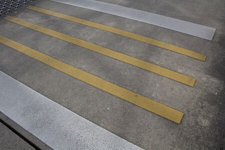 crosswalk: Paso de peatones amarillo y negro