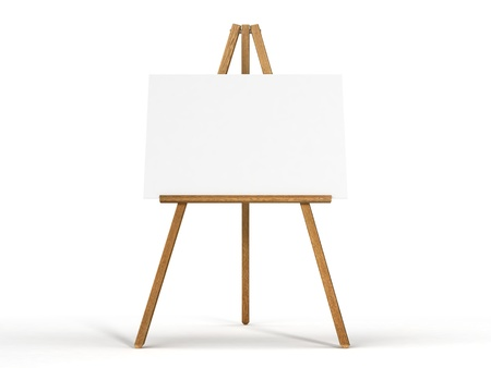Easel isolated on white background  photo