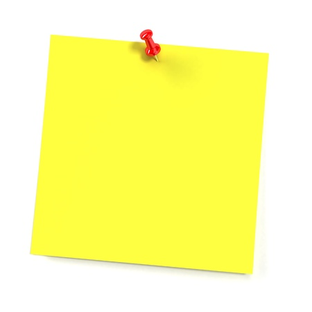yellow tacks: Sticker note isolated on white background