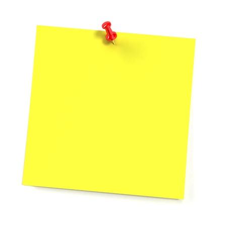 Sticker notitie geà ¯ soleerd op witte achtergrond Stockfoto