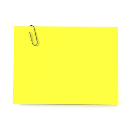 recall: Sticker note isolated on white background
