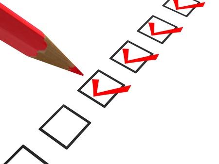 cheque en blanco: Revise la lista y el marcador