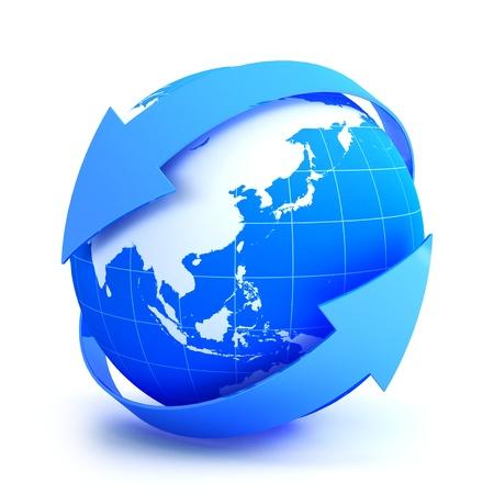 Aarde Internet Concept