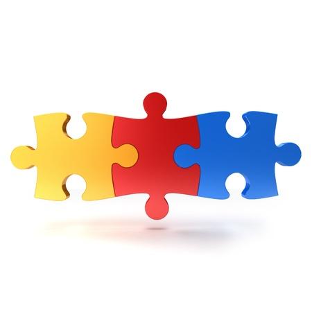 Puzzelstukje op een witte achtergrond Stockfoto