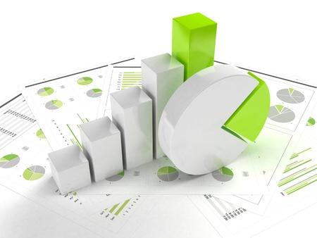 zakelijke grafiek en grafiek Stockfoto