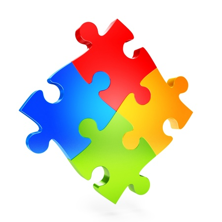 colorful puzzle pieces photo