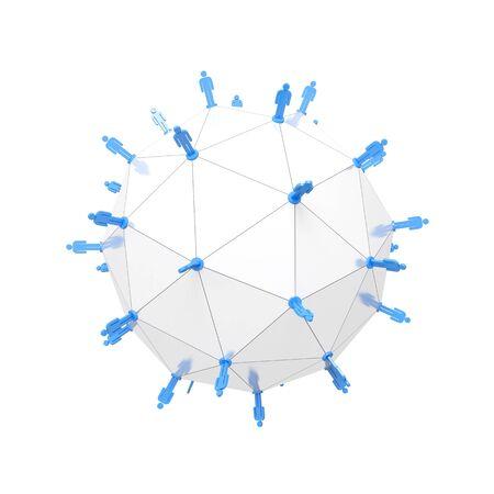 Netzwerk-Konzept Standard-Bild - 27120496