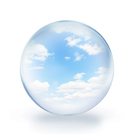 glass ball sky and cloud