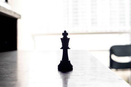 black king chess on teble Stock Photo