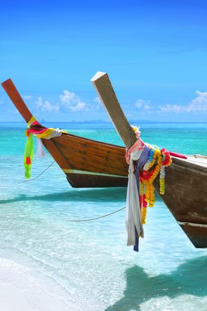 longtail: Longtail boats Stock Photo