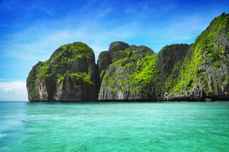 View of Maya Bay, Phi Phi island, Thailand