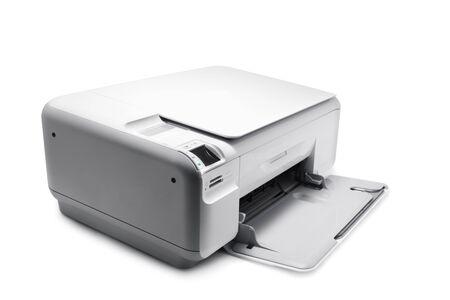 Printer isolated on white photo