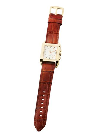 Wrist watch isolated on white photo