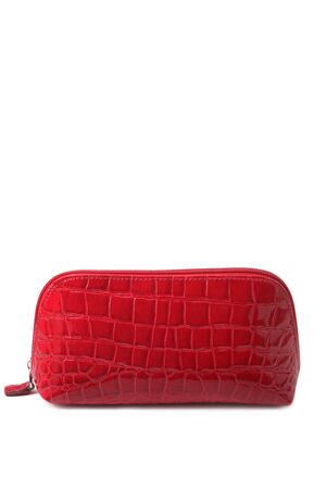 Makeup bag isolated on white photo