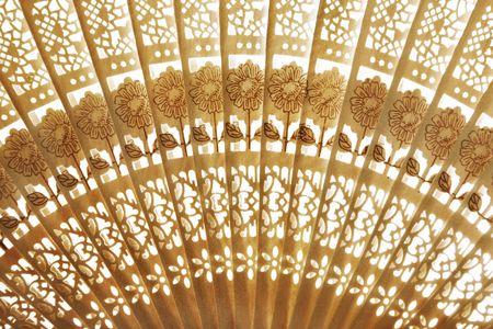 japanese ethnicity: Folding fan background Stock Photo