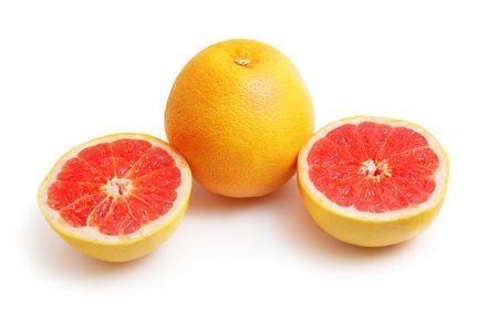 progeny: Grapefruit isolated on white background Stock Photo