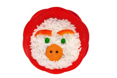 Face made on rice photo