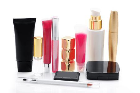 Cosmetics isolated on white  photo
