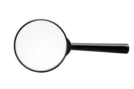 Magnifying glass isolated over a white background photo