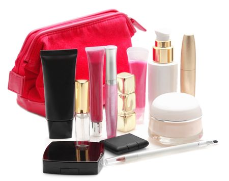 Cosmetics isolated on white  photo