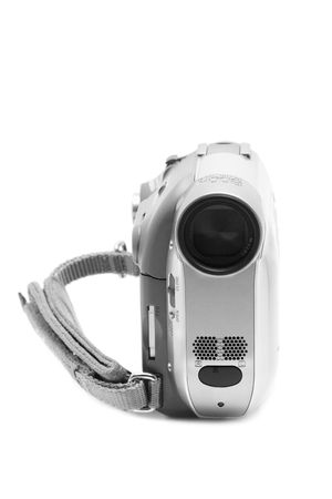 Camcorder isolated on  white  photo